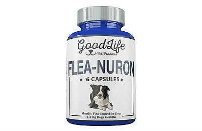 6 Month Supply MONTHLY Flea Control For Dogs 45-90 Lbs. 410 Mg GoodLife 6 Caps