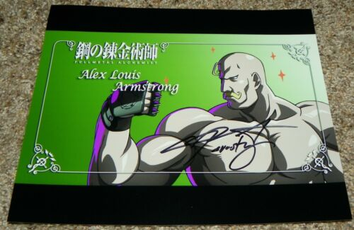 Chris Sabat Alex Armstrong Fullmetal Alchemist FMA Signed 8x10 Photo Auto #1