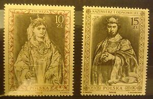 POLAND STAMPS MNH Fi3030-31 Sc2884-85 Mi3178-79 - Polish Kings,1988, clean - <span itemprop=availableAtOrFrom>Reda, Polska</span> - POLAND STAMPS MNH Fi3030-31 Sc2884-85 Mi3178-79 - Polish Kings,1988, clean - Reda, Polska