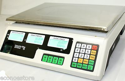66LB 30KG DIGITAL PRICE DELI FOOD MEAT COUNTER COMPUTING WEIGH SCALE