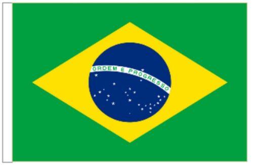 Brazil Sleeved Courtesy Flag ideal for Boats 45cm x 30cm