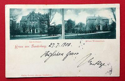 AK SONDERBURG 1900 Landratsamt und Höhere Töchterschule    ( 9313