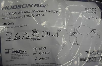 Hudson Resuscitator Bag Lifesaver Adult Nasal Oral Mask 5372 Case6