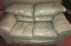 Genuine Leather Couch and Loveseat For Sale