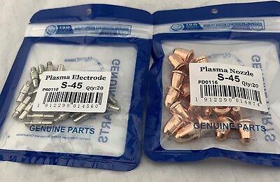 Eastwood Versa Cut 40 Plasma Pr0110 Electrode Pd0116 Tip 0.6mm Swirl Ring Pk48