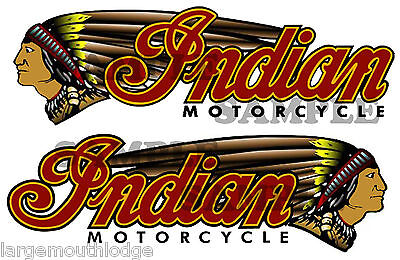 """NEW PEEL & STICK INDIAN MOTORCYCLE DOUBLE DECAL LEFT AND RIGHT FACING 2"""" X .625"""""""
