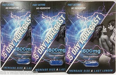 5 Day Forecast 1600 Male Sexual Enhancement Pill  3 Pill Deal  Size Hard Last