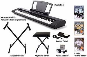 Yamaha NP-32 76-key portable keyboard (all-in-one valued package) Randwick Eastern Suburbs Preview