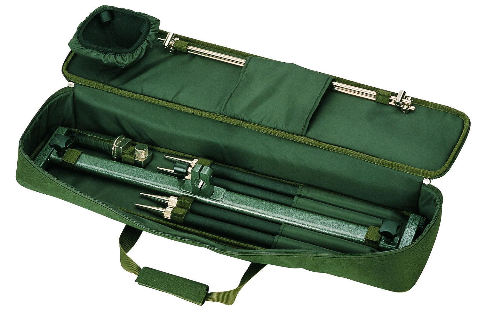 Behr Profi Aluminium Rod Pod 4-Bein für 4 Ruten mit Tasche Rutenhalter  9101212.