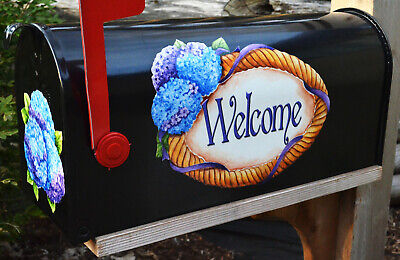 Mailbox Magnet Partial Cover Door of Mail Box Hydrangea Magnet Summer -