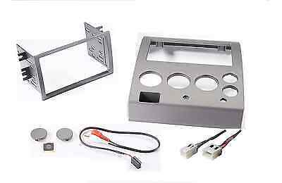 Radio Stereo Mount Install Double Din Dash Kit Bezel Wire Harness Fits Nissan  - Factory Color Match