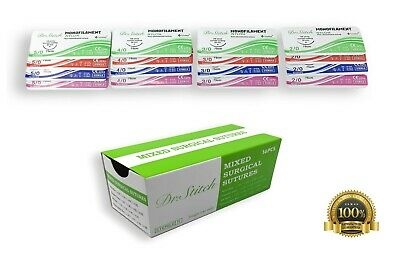 Mixed Training Surgical Suture With Thread Assorted Pack Pack Of 16 Sterile
