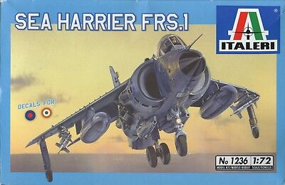 1:72 SCALE INJECTION MOLDED SEA HARRIER FRS-1 by ITALERI