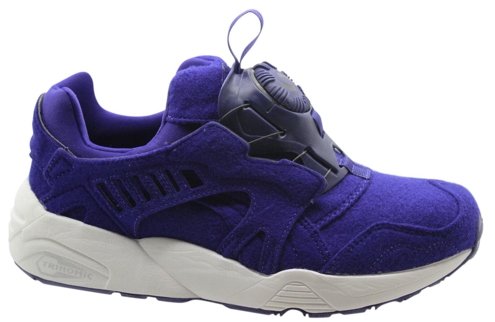 puma trinomic disc blaze purple felt mens trainers slip on. Black Bedroom Furniture Sets. Home Design Ideas