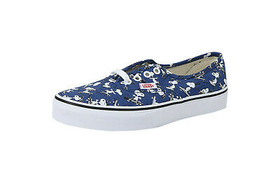 Vans Kids Youths Children Boys Girls Shoes Authentic Peanuts Snoopy Navy Canvas
