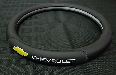 Brand New Chevrolet Black PVC Leather Steering Wheel Cover 15'' Inches