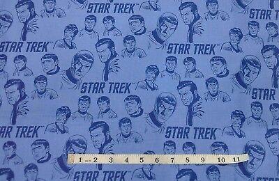 Star Trek Characters Fabric, Spock, Kirk, Bones, fat 1/4s. 100% cotton. 63100306