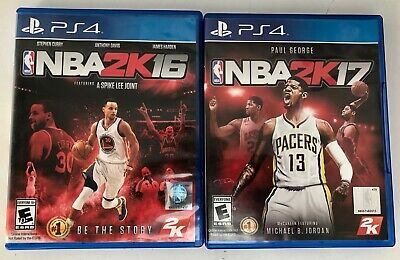 2 PS4 games - Sony PlayStation 4 -NBA 2K16 & NBA 2K17 - E-Everyone Complete EC for sale  Shipping to Nigeria