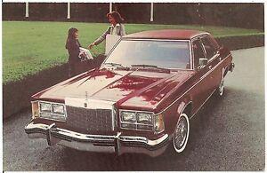 1978 Lincoln Versailles Automobile Advertising Postcard