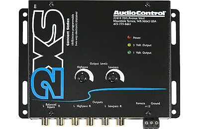 New AudioControl 2XS (Black) 2-Channel Electronic Crossover 9 Volt Line Driver 2 Channel Line Driver