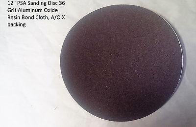 10- 12 Psa Sanding Disc 36 Grit Aluminum Oxide Resin Bond Cloth Ao X Backing