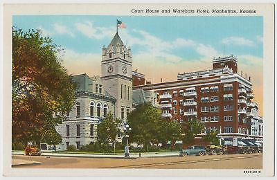 Riley County Court House, Wareham Hotel, Manhattan, Kansas