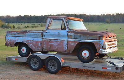 1965 Chevrolet C-10 CUSTOM CAB SWB W/BIG BACK WINDOW 1965 CHEVROLET C10 CUSTOM CAB SWB FLEETSIDE PICKUP TRUCK PROJECT