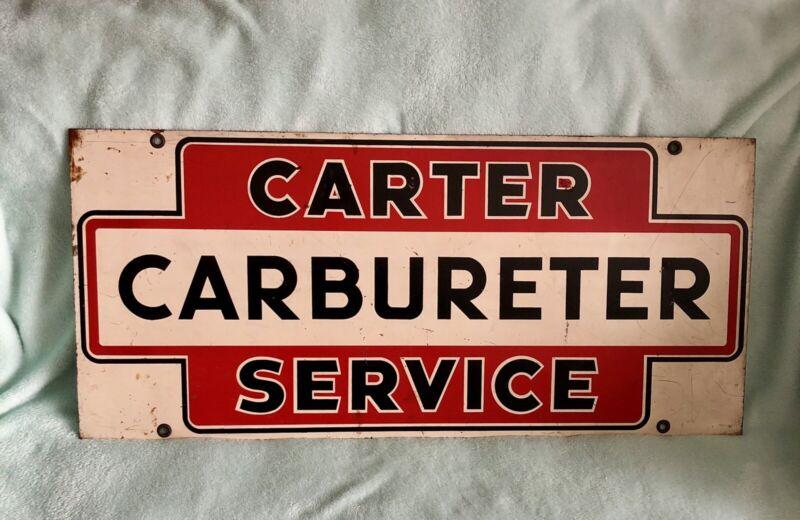 Rare Original Carter Carbureter Service Carburetor Sign Petroliana GasStationOil