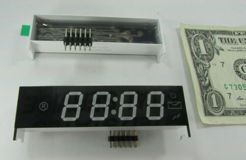 Lot of 2 New Sealed Green LED 4-Digit Display Modules 00:00 With Decimal/Colon