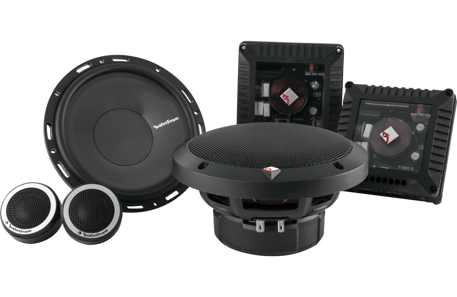 "NEW ROCKFORD FOSGATE T1650-S 6.5"" POWER  2-WAY CAR COMPONENT"