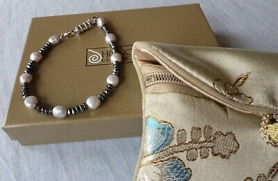Honora Freshwater Cultured Pearl and Hematite Magnetic Bracelet