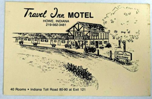 Travel Inn Motel Howe Indiana Toll Road Advertising Promo Card I 90 Exit 121