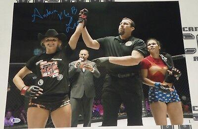 Andrea KGB Lee Signed 16x20 Photo BAS Beckett COA UFC LFA Invicta FC Autograph 9