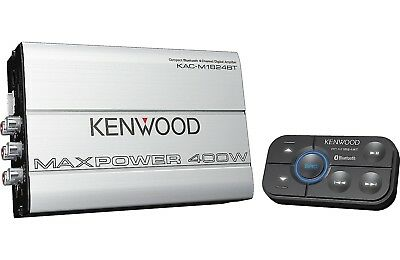KENWOOD KAC-M1824BT 4-CHANNEL BLUETOOTH BOAT MARINE MOTORCYCLE AMP 400 WATT MAX