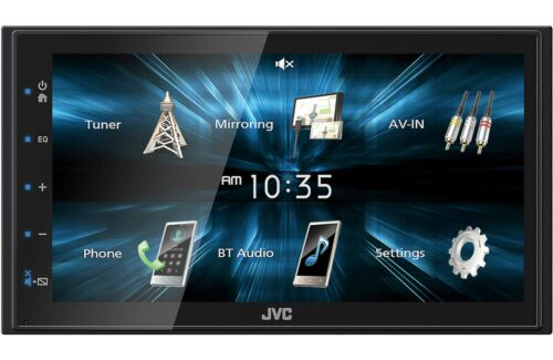 """New JVC KW-M150BT 2 DIN 6.75"""" Media Player USB Mirroring For Android Bluetooth"""