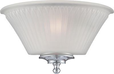 1 Light Wall Sconce Polished Chrome with Frosted Glass