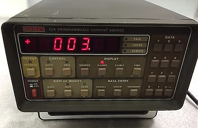 Keithley 224 Programmable Current Source 224 3 Wno-nonsense 6 Month Warranty