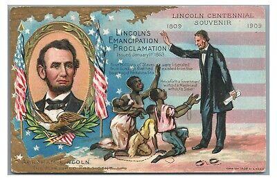 ABRAHAM LINCOLN Slave Black African Americana Emancipation Proclamation Postcard
