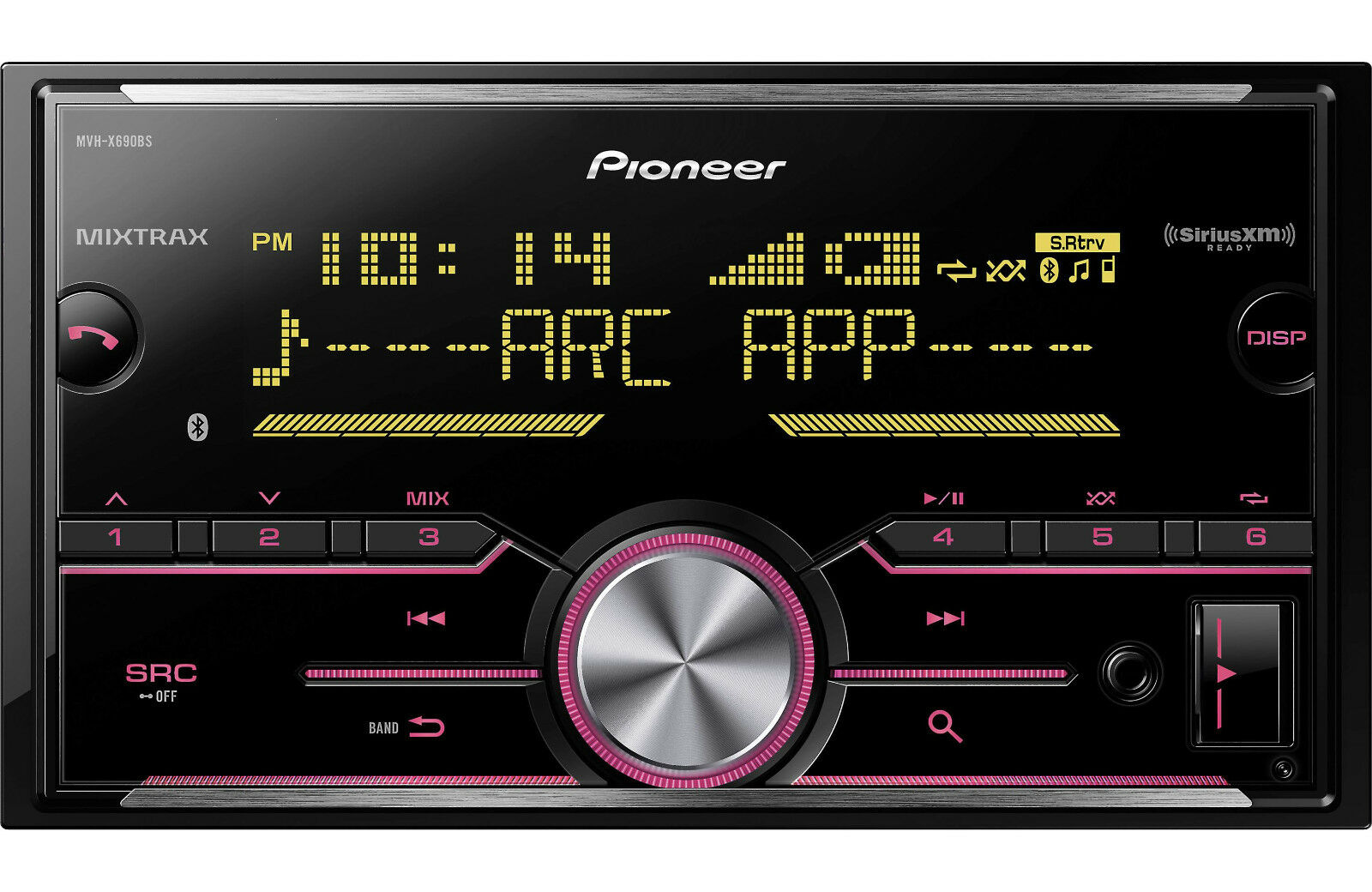 $91.90 - NEW Pioneer MVH-X690BS Double DIN MP3/WMA Digital Media Player Bluetooth MIXTRAX