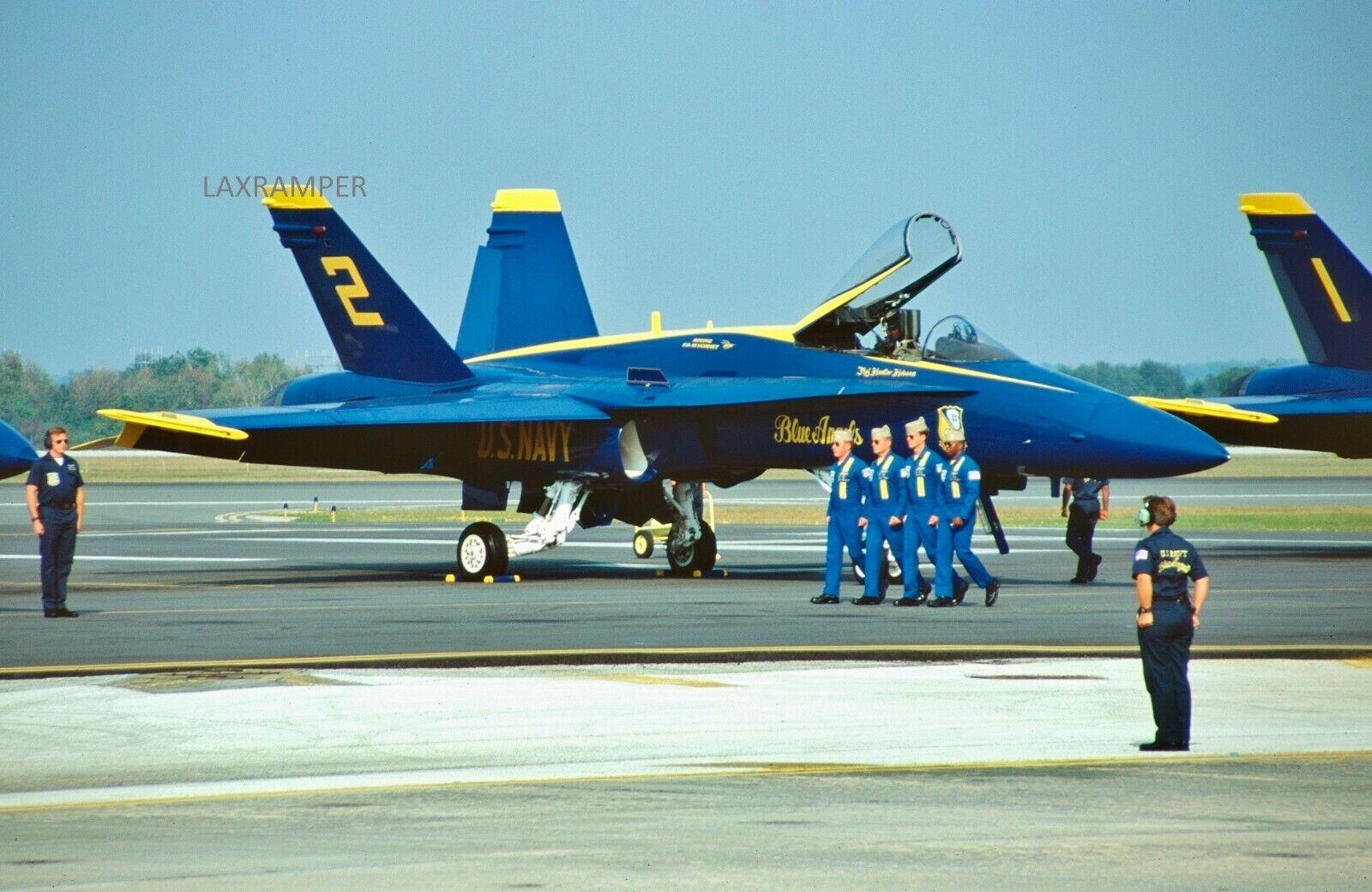 Dupe Slide USN Blue Angels McDonnell Douglas F/A-18A Ship 2 Navy Marine Corps - $1.95