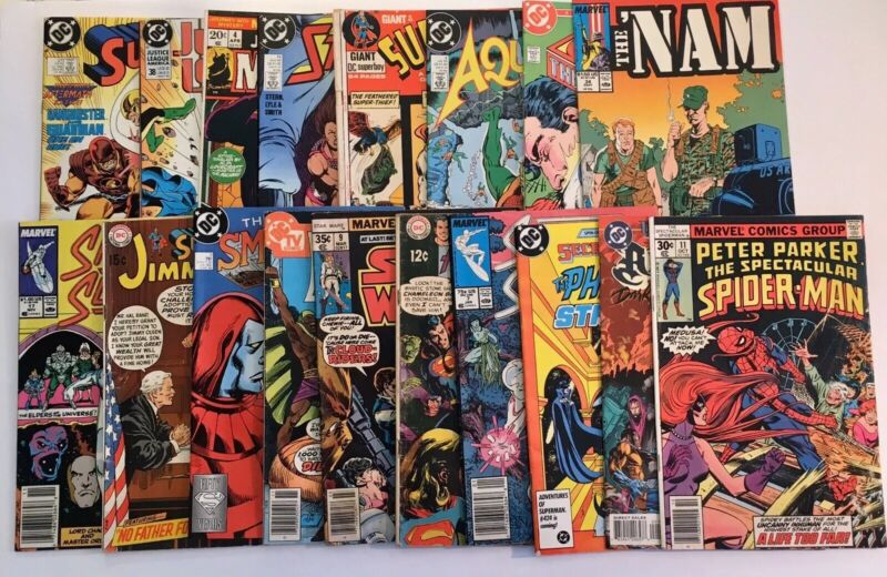 Mixed Comic Book Lot of 18 Marvel, DC & More, Great Mix Spider-man Superman