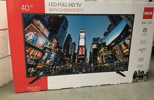 RCA 40 inch LED 1080p TV warranty included
