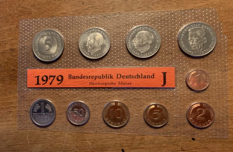 DM Coin Set 1979 J Germany Uncirculated