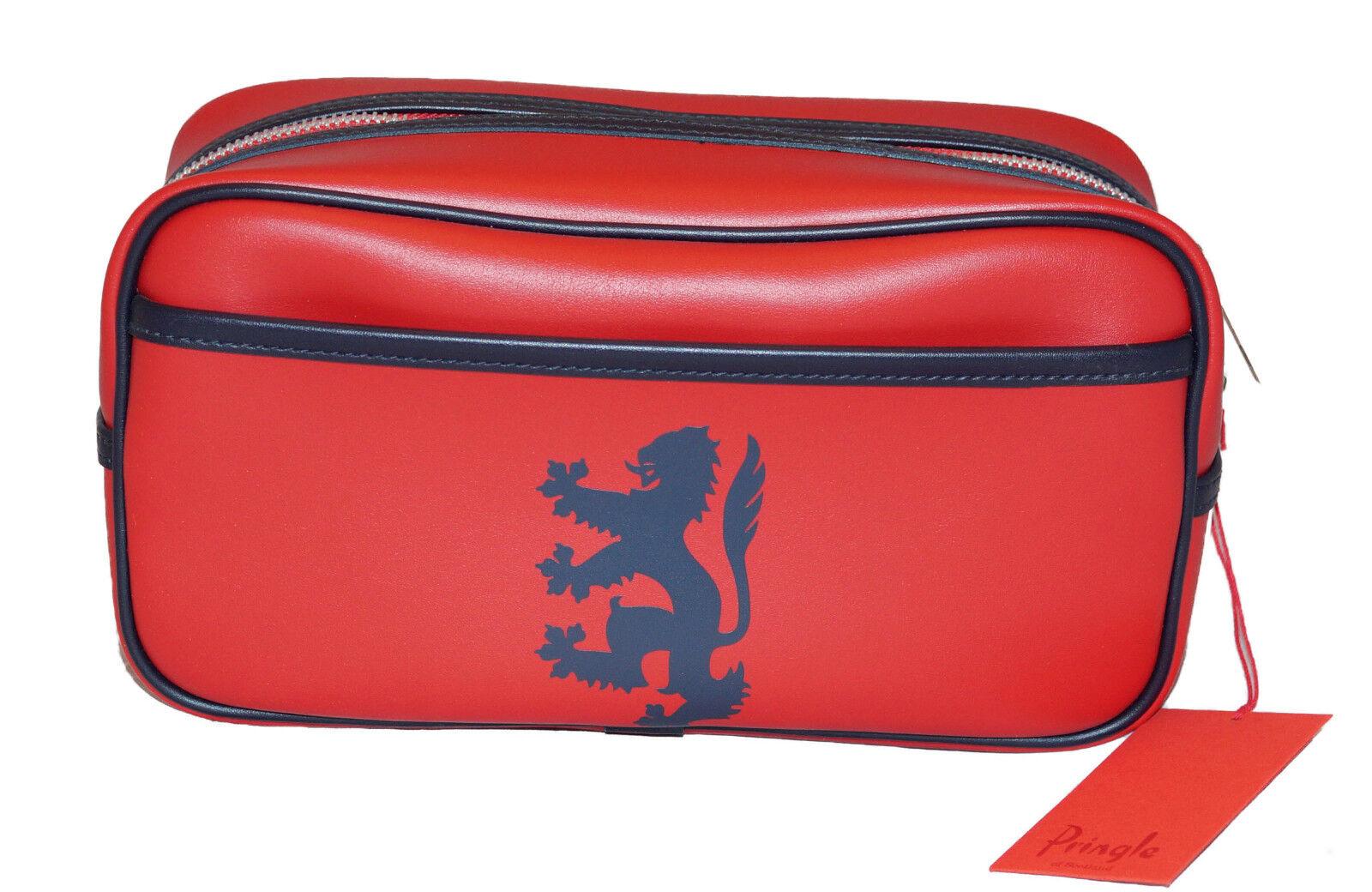 Neu Pringle Hygieneartikel Set Wasch Reisetasche Rot