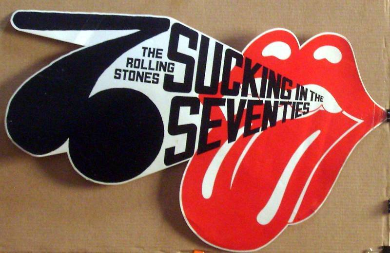 Rolling Stones 23x38 Sucking In The Seventies Die-Cut Promo Poster