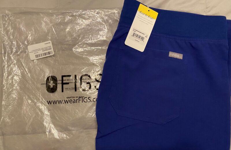 FIGS Scrubs Womens Livingston Basic Scrub Pants Large Deep Royal Blue
