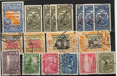 ECUADOR Scott 271//365 Mostly Used ## 1 cent start ##
