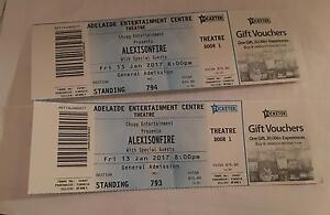 2 x tickets to alexisonfire $90 for BOTH tickets Flagstaff Hill Morphett Vale Area Preview
