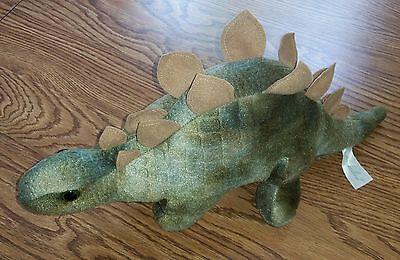 Homerbest Green Stegosaurus Dinosaur Dino Stuffed Animal Plush Toy