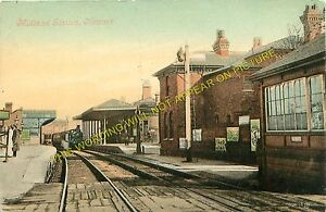 Newark Castle Railway Station Photo. Rolleston - Collingham. Midland Railway